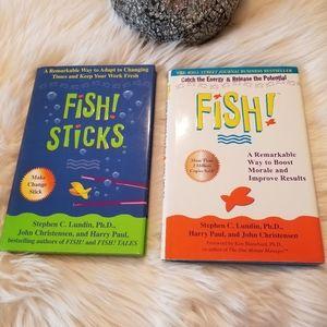 2 Set of 2 FISH! and FISH! STICKS business books